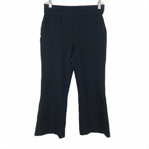 Spanx Crop Pants Leggings Black Solid Medium